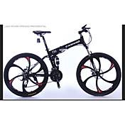 マウンテンバイク 折りたたみ自転車 サイクリング 27スピード 26 inch/700CC シマノ オイルディスクブレーキ サスペンションフォーク アルミ合金フレーム 折りたたみ式 普通 アルミニウム