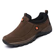 Hombre-Tacón Plano-Confort-Zapatos de taco bajo y Slip-Ons-Informal-Cuero-Marrón Gris Ejército verde
