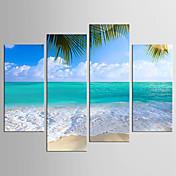 Paisaje Floral/Botánico Modern Realismo,Cuatro Paneles Lienzos cualquier Forma Estampado Decoración de pared For Decoración hogareña
