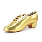 Sapatos de Dança(Vermelho Prateado Dourado) -Masculino-Não Personalizável-Latina Jazz Tênis de Dança Moderna Salsa Sapatos de Swing