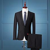 odijela Muškarci,Jednostavno Ulični šik Ležerno/za svaki dan Rad Plus veličine Jednobojni-Dugih rukava Klasični rever-Sva godišnja doba