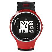 EZON Hombre Reloj Smart Digital Caucho Banda Negro Rojo Amarillo