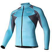 SPAKCT Maillot de Ciclismo Hombre Manga Larga Bicicleta Camiseta/Maillot Mantiene abrigado Secado rápido Resistente al Viento