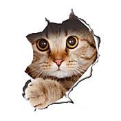 動物 ファッション 形 ウォールステッカー プレーン・ウォールステッカー 飾りウォールステッカー トイレステッカー,ビニール 材料 洗濯可 取り外し可 再利用可 ホームデコレーション ウォールステッカー・壁用シール