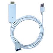 HDMIテレビHDTVアダプタHDMIケーブルへのiphone 5 / 5S / 5C / 6 / 6S / 6プラス/ 7 / 7plus ipadと携帯電話の画面のためのHDMIへのmeasy i8でiPhoneのスクリーンビデオ