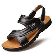 Masculino sapatos Couro Primavera Verão Outono Solados com Luzes Botas da Moda Conforto Sandálias Fru-Fru Para Casual Festas & Noite