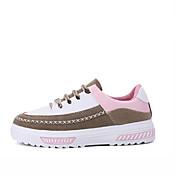 Žene Sneakers Proljeće Jesen Udobne cipele PU Aktivnosti u prirodi Creepersice Vezanje Crna Ružičasta Siva