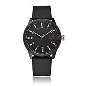 V6 Hombre Reloj de Moda Cuarzo / Silicona Banda Casual Negro Blanco Negro Gris
