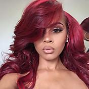 Mujer Pelucas sintéticas Encaje Frontal Suelto Rojo Entradas Naturales Peluca natural Las pelucas del traje