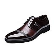 Hombre Zapatos Semicuero Primavera Verano Otoño Invierno Confort Botas de Moda Zapatos formales Oxfords Con Cordón Para Casual Fiesta y