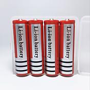 18650.0 Baterias Capa para Bateria Recarregável Emergência Campismo / Escursão / Espeleologismo Uso Diário Polícia / Militar Ciclismo