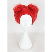 Mujer Pelucas sintéticas Sin Tapa Corto Ondulado Rojo Raya en medio Peluca de cosplay Peluca de Halloween Peluca de carnaval Las pelucas