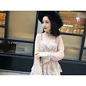 versión coreana del temperamento dulce y elegante de encaje de hilo de red de dos piezas de la moda falda de la torta del vestido