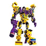 DIYキット ブロックおもちゃ 知育玩具 おもちゃ ギフトのため ブロックおもちゃ プラモデル&組み立ておもちゃ 戦士 ロボット フォークリフト 掘削機械 プラスチック 白 おもちゃ