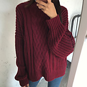 firmar versión coreana de los suéter giro pullover capa de la manga murciélago hembra gruesas líneas gruesas de cuello media