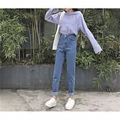firmar los pantalones de color claro de flash flojo viento bf coreano pantalones vaqueros rectos femeninos importantes pantalones de