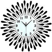 Moderno/Contemporâneo Escritório/Negócio Família Escola/Graduação Amigos Relógio de parede,Inovador Cristal Metal 60*60 Interior Relógio