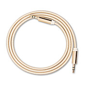 3,5 mm na 3,5 mm jack mini kulatý auto aux audio kabel prodloužen audio pomocný kabel pro iPhone MP3 / MP4 sluchátka reproduktoru