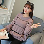 セーター緩いストライプのシャツの潮をヘッジサイン秋と冬の新しい韓国の長袖のセーター女子生徒