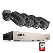 zosi®8 canales 1080n kit de cámara de vigilancia DVR-TVI 4x 1280tvl cubierta exterior de infrarrojos cámaras resistentes a la intemperie 1tb