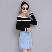 薄い襟セーター新しい韓国ヘッジ長袖のセーター野生スリム底入れシャツの潮に署名