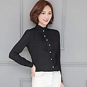 記号2017春新韓国スリム襟シャツ野生の長袖の白いシフォンシャツ