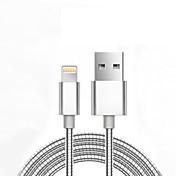 USB 2.0 Trenzado Normal Cable Para Apple iPhone iPad 98 cm Metal Aluminio