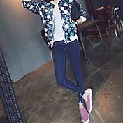 暗い塗料摩耗足の鉛筆のズボンの2017春韓国のスリム薄い9ポイントのジーンズの韓国語バージョン