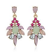 Diamante Cristal cuelga los pendientes Joyas Boda Fiesta Casual Legierung 1 par Dorado