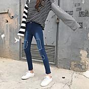 firmar agujero falsa con la naturaleza del cuerpo de la bolsa era delgada pantalones vaqueros pies pantalones pantalones femeninos