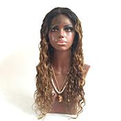 26inch 130% vlhkost zvlněná voda vlna kudrnatá Glueless hedvábný top základnových zbělel suky plné krajky lidských panenské vlasy krajky