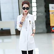 女性たち'白いシャツのスリムカジュアルジャケット春長袖シャツと長いセクションだ2017新しい秋の韓国語バージョン