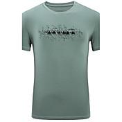 メンズ カジュアル/普段着 夏 Tシャツ,シンプル ラウンドネック 幾何学模様 スパンデックス 半袖 ミディアム
