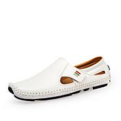 Hombre Zapatos de taco bajo y Slip-Ons Confort Zapatos De Buceo PU Primavera Verano Casual Fiesta y Noche Confort Zapatos De BuceoBlanco