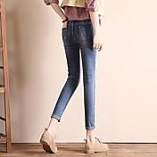 Iniciar sesión en el otoño de 2017 la versión coreana fue pantalones vaqueros delgados delgados femenina pantalones pies pantalones