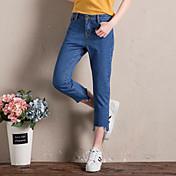 女性の春と夏のジーンズのズボンの足が細いバリ不規則なパンツズボンパンスト潮だった署名