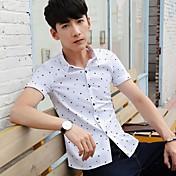 hombres&Camisa de verano de manga corta de camisa de Corea delgado de negocios de moda de verano de verano de verano no de hierro