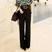 92016春新しい女性' sの腰だった薄い緩いカジュアルワイドレッグパンツスーツのパンツはパンツドレス