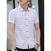 hombres&# 39; s moda de verano tendencia vestido versión coreana de delgado salvaje de manga corta camisa hermosa ropa de manga corta