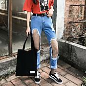 17の大きな韓国の乞食の穴のジーンズのズボン