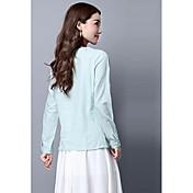 signo 2017 modelos de primavera yardas gran suelta de algodón silvestre literaria blusa bordada