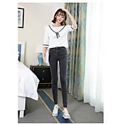 Signo cintura pantalones vaqueros pantalones femeninos nueve puntos fue fino estiramiento negro lápiz pantalones pantalones marea