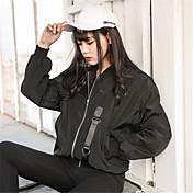 firmar corea ulzzang impresión de viento harajuku bf sección de cuello delgado de la chaqueta del uniforme del béisbol femenino