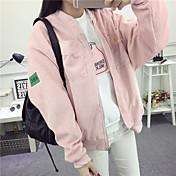 Amantes de la chaqueta de punto chaqueta versión coreana de la japonesa retro corduroy collar de béisbol uniforme marea