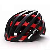 MOON® 女性用 男性用 男女兼用 バイク ヘルメット 36 通気孔 サイクリング サイクリング マウンテンサイクリング ロードバイク レクリエーションサイクリング ハイキング 登山 M:55-58CM L:58-61CM PC EPSホワイト グリーン レッド ブラック