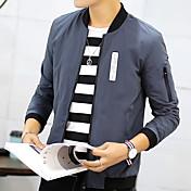 男性'春と秋のコートジャケット男性の若者の傾向は、新しい男性の韓国版'野球のシャツの薄い服