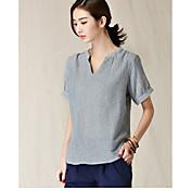 2017新しい韓国の文学綿ラウンドネックルーズ半袖Tシャツの女性に署名