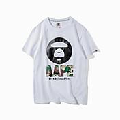 ラウンドネック半袖Tシャツをヘッジ香港ショーン潮のブランドの2017年夏の新しいレジャー野生の男性