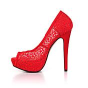 女性のサンダル夏のクラブの靴チュールの結婚式のパーティー&イブニングドレス