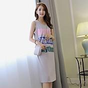 Signo de verano nueva ola de letras impresas vestido sin mangas coreano estudiantes sueltos en vestido